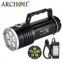Diving Flashlight ARCHON DG60 WG66 6*L2 U2 Led Underwater Light Waterproof Scuba Dive Torch Rechargeable Li ion Battery Pack