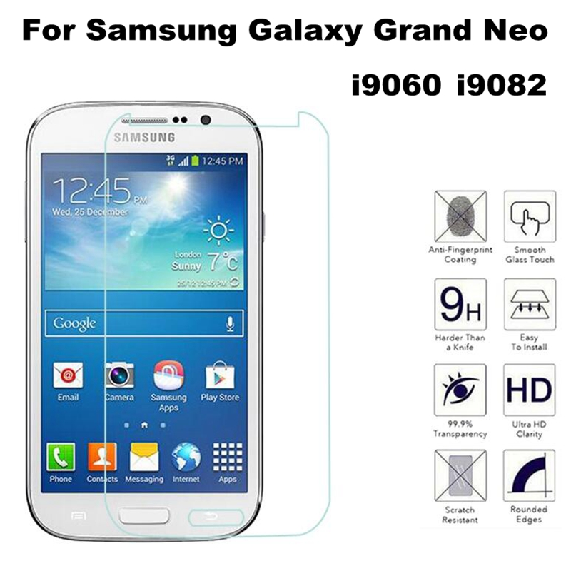 Custodia in vetro temperato HD 9H per Samsung Galaxy Grand Duos i9082 i9080 GT-i9082 Neo i9060 i9062 Plus i9060i