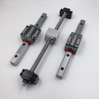 6 HGH20 Square Linear guide sets + 4 x SFU1605 450/1350/1550/1550mm Ballscrew sets + BKBF12 + couplings CNC HGW20 RM1605 HGH20CA