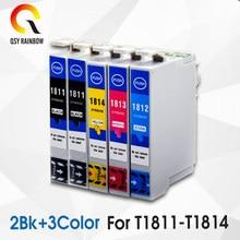 5 paczka kompatybilny 18XL T1811 T1814 pojemnik z tuszem do XP205 XP305 XP322 XP315 XP212 XP402 XP30 XP225 XP325 XP422 z 18ml