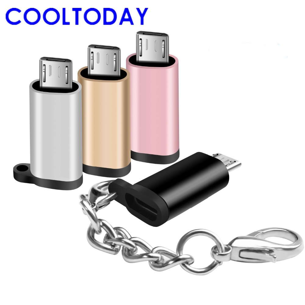 In Quality Apprehensive Cooltoday 2pcs Micro Usb Adapter Charging Data Sync Converter With Keychain For Android Device Phone Tablets Micro Usb Male Superior