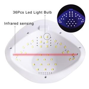 Image 3 - 54W Móng Tay Đèn Máy Sấy Móng Tay UV Gel Ba Lan Sấy Đèn Dầu Bóng Chữa 36 Đèn LED Cảm Biến Hồng Ngoại Thông Minh Thời Gian dụng Cụ Làm Móng Tay Lasunx