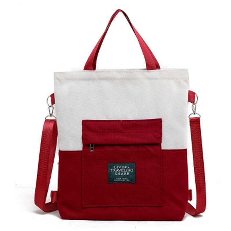 New Pachwork  Canvas Shoulder Bags Environmental Shopping Bag Women Cotton Canvas Fabric Eco Tote Bag Bolso Mujer