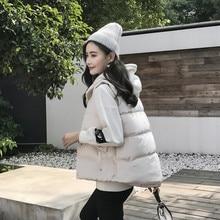 MUMUZI Nuevo 2018 otoño y invierno mujeres chaleco Chaleco de algodón  terciopelo de algodón chaleco caliente suave 2XL mujer out. 7123ed0a15d6