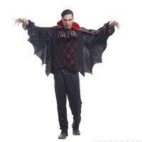 Men Devil Vampire Cosplay Halloween Demon Batman costume Christmas Purim Carnival Masquerade Stage play Nightclub dance dress