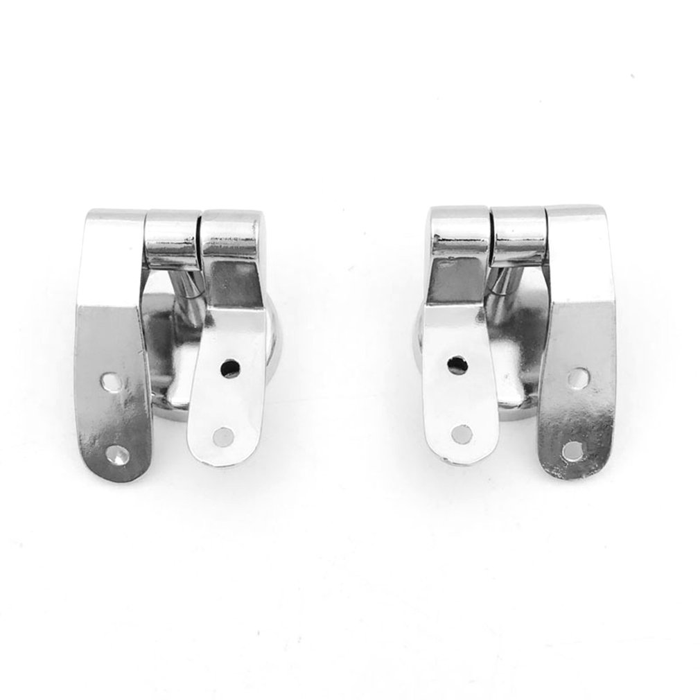 2Pcs Silver Toilet Seat Sturdy Hinge Toilet Mountings for Replacement DIY Repair