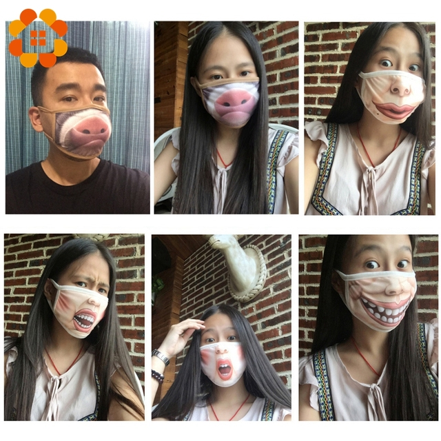 Villain Joke Masks Funny Expression Pig Lower Half Face Cotton Face Mask Festive Christmas Masquerade Party Cosplay Supplies 5