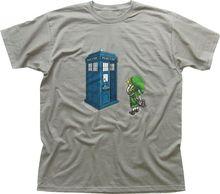 Legend of Zelda Ocarina TARDIS Zinc Printed Cotton T-shirt TC9730 Men'S T-Shirts Summer Style Fashion Swag Men T Shirts