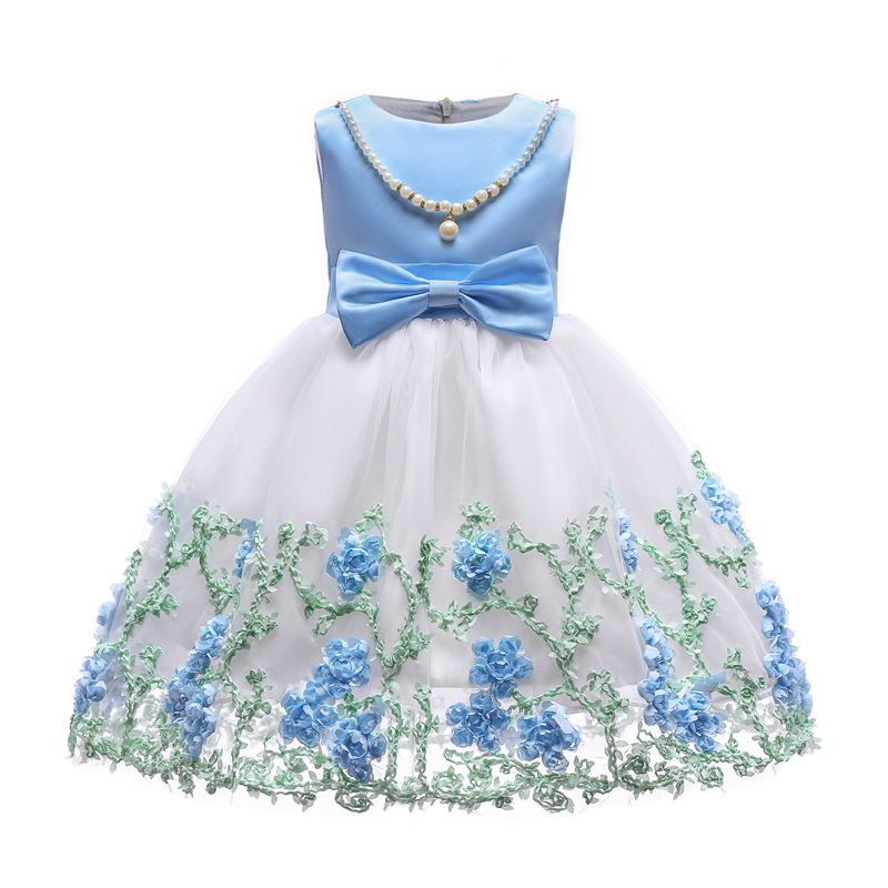 2018 Summer Girls Dresses Girl Flowers Clothes Kids Beauty Dress Children Party and Wedding Dress Baby Girls Clothing 2-10 Years