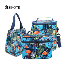 SIKOTE Thermal Oxford Cooler Bags Keeping Fresh Bags for Food Insulated Lunch Box Waterproof for Women Kids Men Crossbody Bgas