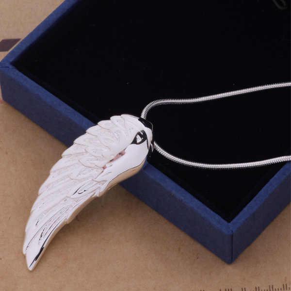 AN146 gorący naszyjnik sterling modny wisiorek skrzydło/ghtaozaa amhajdoa kolor srebrny