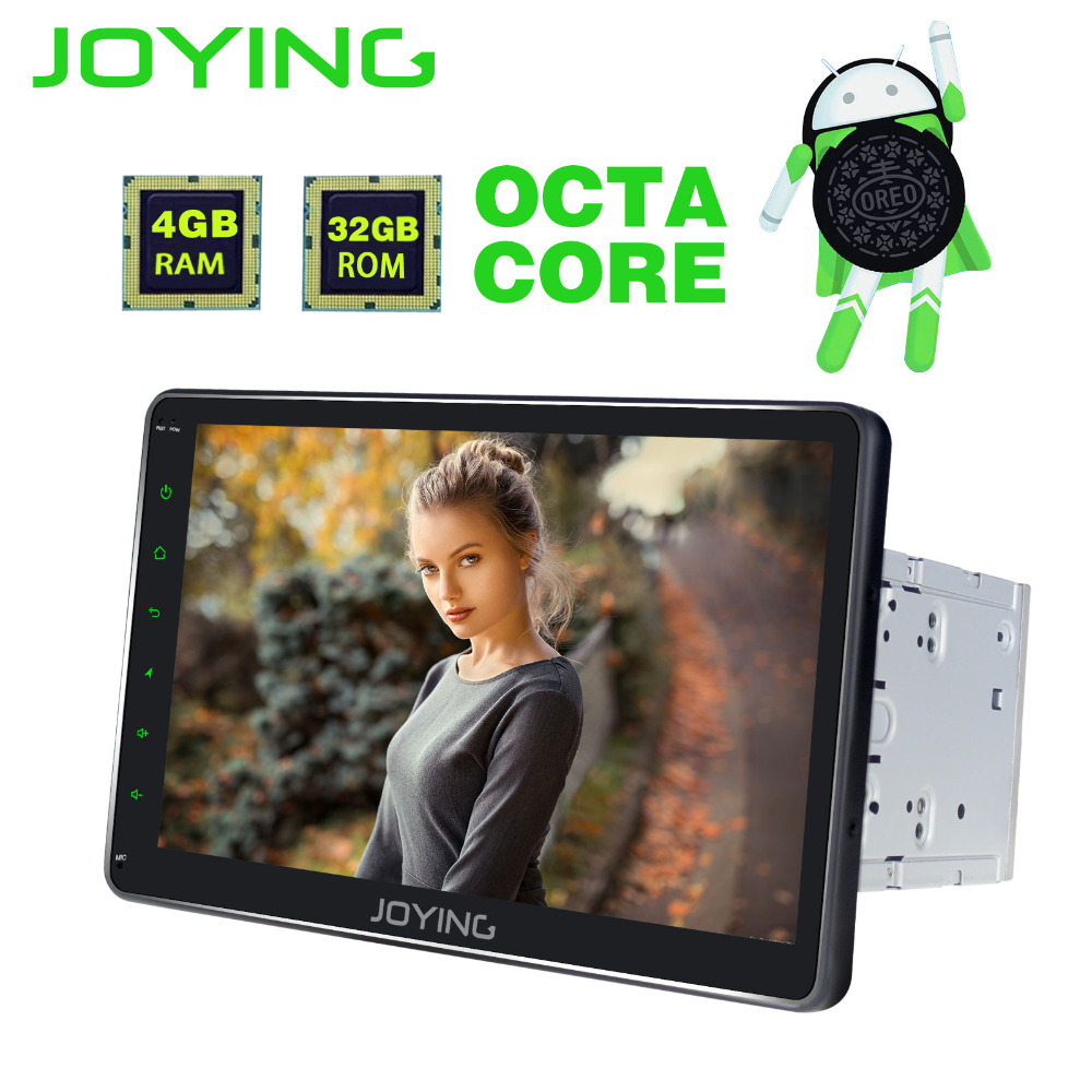JOYING 2 Din 4GB RAM 10.1 inch Android 8.0 Car Radio PX5 Octa Core GPS player BT Navi support Video output carplay audio stereo цены