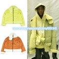 Kanye West YEEZY TEMPORADA VETEMENTS Gire el abrigo de piel de terciopelo Ovejas otoño e invierno capa de color 2