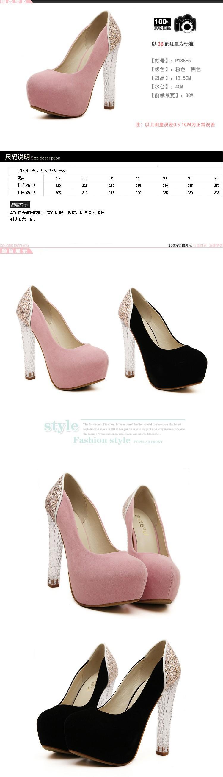 Las niñas se visten bombas rosa zapatos sexy zapatos de tacones ... 51e33bfe22c2