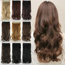 Hairpiece resistant heat wavy extension synthetic extensions natural clip curly in