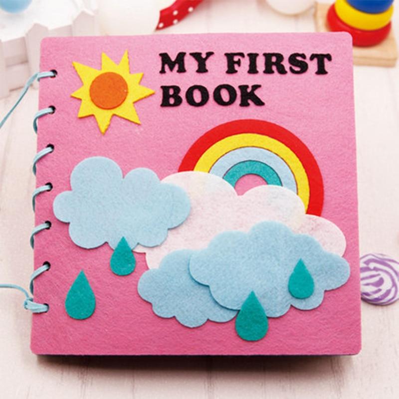 20x20cm Mom Handmade My First Book Soft Felt Cloth Quiet Book Toys For Kids Early Learning Educational Felt DIY Material GPD8676