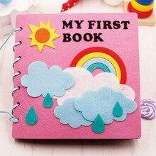 Mamãe de 20x20cm feito à mão, meu primeiro livro, pano de feltro macio, brinquedo silencioso para crianças, aprendizagem precoce, educacional material de feltro diy gpd8676