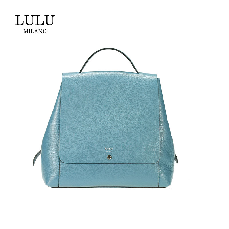 lulu milano  Genuine leather  leather lychee double backpack made in Italy 85144-s
