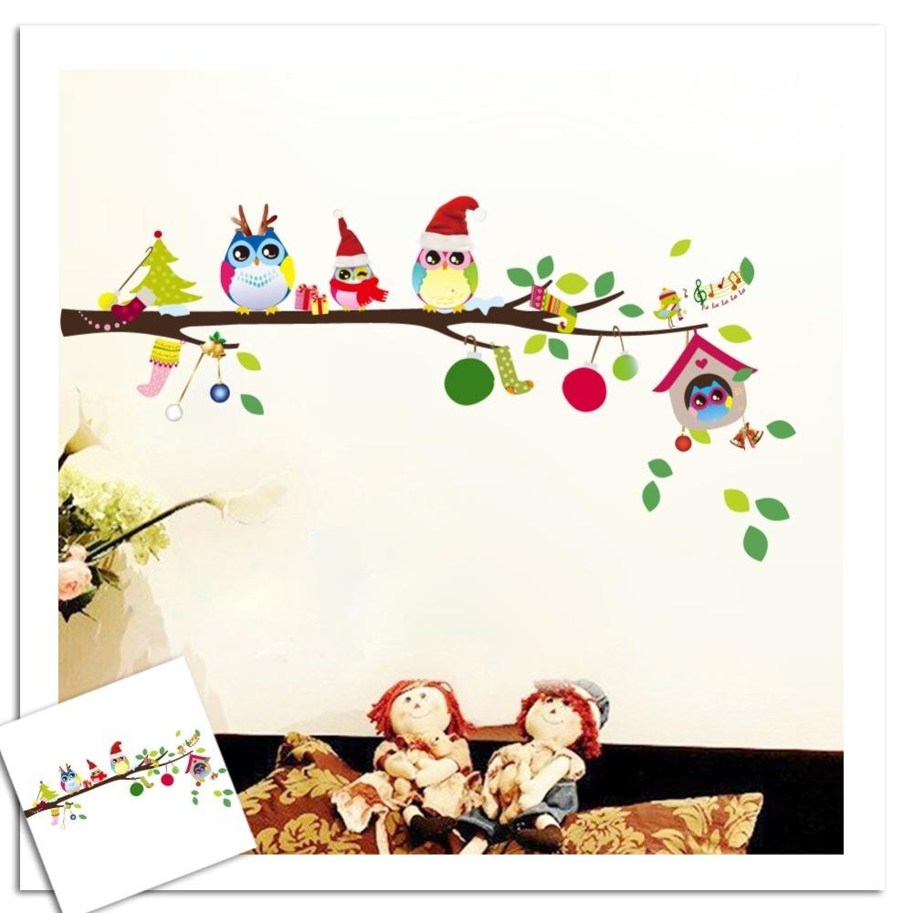 Kids Bedroom Wall Decor Aliexpresscom Buy 2016 Vinilos Paredes Stickers Happy Owls On