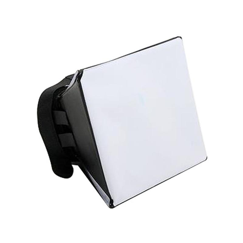 Portable Photography Soft Box Softbox Kit Flash Diffuser for Canon Nikon Sony Pentax Olympus Sigma Minolta DSLR Speedlite Flash universal soft screen pop up flash diffuser for nikon canon pentax olympus camera soft diffuser plastic diffuser softer 10d 20d