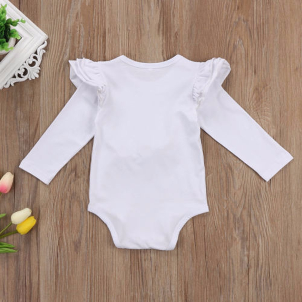 HTB11Cp9bBxRMKJjy0Fdq6yifFXaB - Newborn Infant Baby Girls Long Sleeve Unicorn Printing Floral Bodysuit for Summer Clothes Outfits Pink/White Jumpsuit