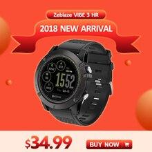 [In Stock] 2018 Zeblaze VIBE 3 HR Smartwatch Durabilidade À Prova D' Água Relógio Inteligente Homens Wearable Excelente Bateria de Freqüência Cardíaca monitor de
