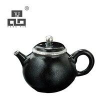 TANGPIN high-end gilt silver ceramic teapot kettle handmade tea pot japanese kung fu tea set drinkware