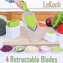Mandoline Slicer Vegetables Cutter with 4 Stainless Steel Blade Carrot Grater Onion Dicer Slicer Kitchen Accessories