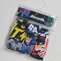 Niños de la ropa interior de las bragas muchachos niños calzoncillos de algodón de caracteres de impresión calzoncillos Superman batman spiderman car 3 unids/lote