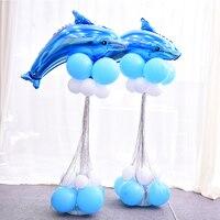 2 takım balon sütun bankası çubuk polonyalılar plastik aksesuarları alüminyum folyo hayvan balonları düğün olay parti bahçe dekorasyon