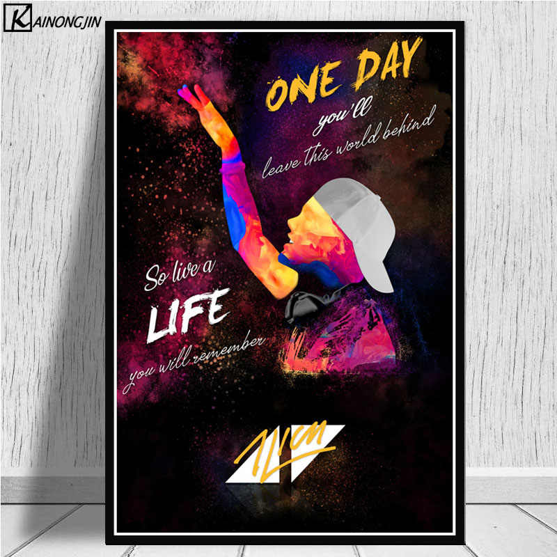 Avicii Poster DJ Music Singer Star Legend Posters and Prints Canvas Painting Wall Art Picture for Living Room Home Decor