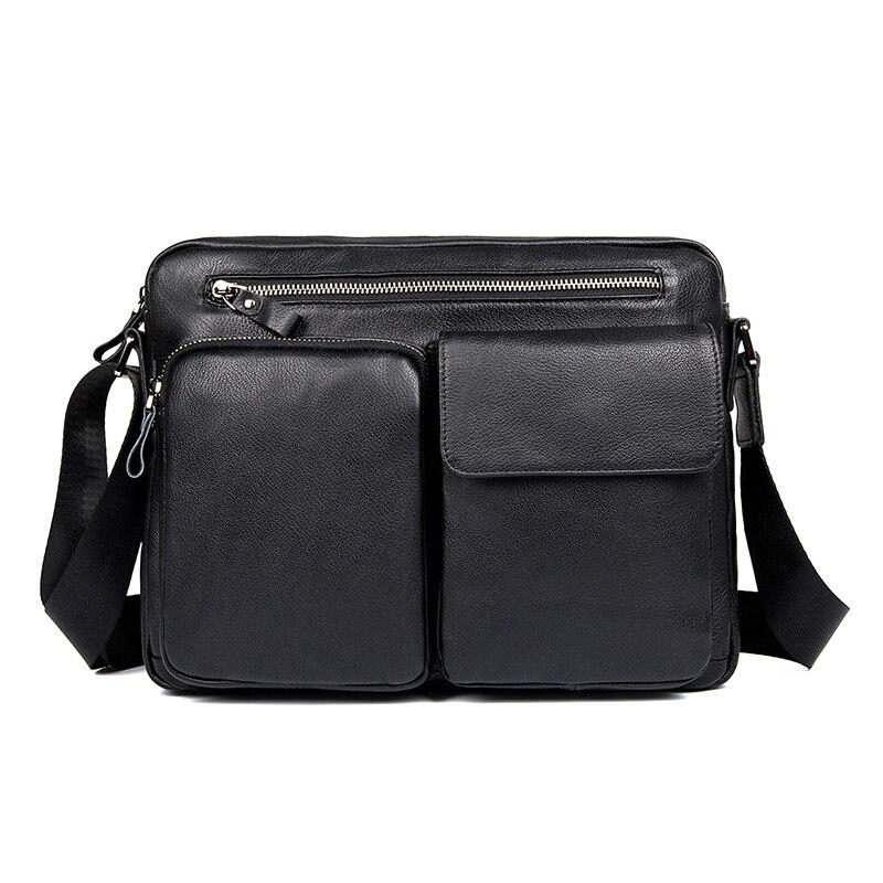 Men High Quality Real Leather Brand Shoulder Sling Bag for Man 2018 Crossbody Black Fashionable Cowhide Leather Messenger Bags цена