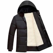 2017 новый мужской случайные капюшоном вниз хлопок jaket для мужская толстые теплые пальто и куртки и пиджаки бизнес бархат парки плюс размер 3xl