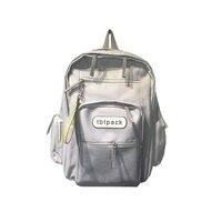 2018 Hong Kong Stylu Tornister Koreański Harajuku Plecak Gimnazjum Dużej Pojemności Plecak Dziewczyna Płótno Plecak Y274