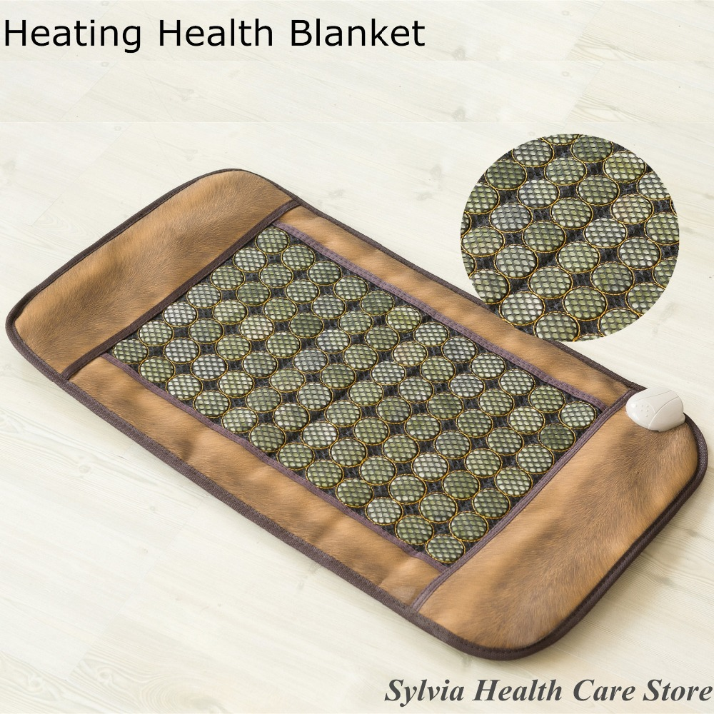 2017 NEW products HOT Sale Infrared Heated Tourmaline jade Stone Massage Mat Korea heating Yoga Mat Korea Tourmaline Mattress 2017 new heating massage mat heated jade stones cushion tourmaline health products heating sleeping mat size 100 50cm