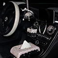 Роскошный Кристальный горный хрусталь  автомобильный тканевый бумажный ящик  украшение интерьера  чехол на руль  автомобильный держатель д...
