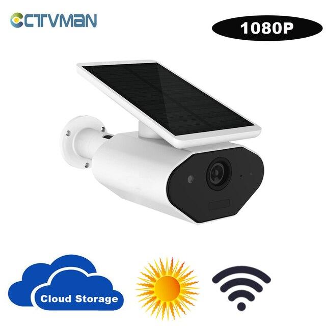 CTVMAN 1080 P Câmera WI FI Câmera de CFTV IP de Armazenamento Em Nuvem Sem Fio Energia Solar Solar 2MP HD Ao Ar Livre Casa de Segurança em Dois Sentidos áudio