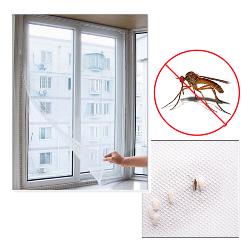 Fly Mosquito Window Net Mesh Screen Mosquito Mesh aizkaru aizsargs Insect Bug Fly Mosquito Window Mesh ekrāns Balts 150 x 130cm