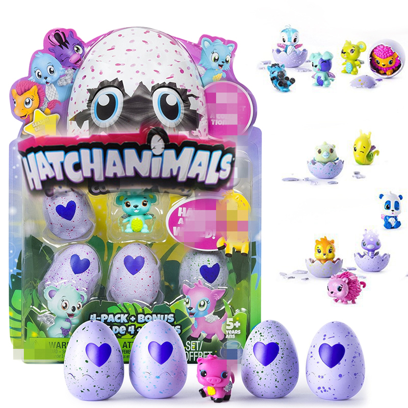 Hatchimal Egg luminous love&eyes change Toy Birds Hatchable Egg 4-Pack + Bonus Christmas Gift hatching egg not original
