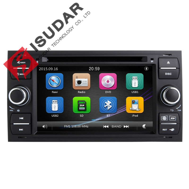 Isudar Car Multimedia Player GPS 2 Din Car Radio Audio Auto For Ford/Mondeo/Focus/Transit/C-MAX Bluetooth Auto Rear View Camera isudar car multimedia player gps 2 din car radio audio auto for ford mondeo focus transit c max bluetooth auto rear view camera