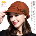 Lady Velvet Thick Warm Hat Female Reverse Twist Bow Cap Girls Fashion Beret Nifty Cap Newsboy Hat New Year Gift B-4494
