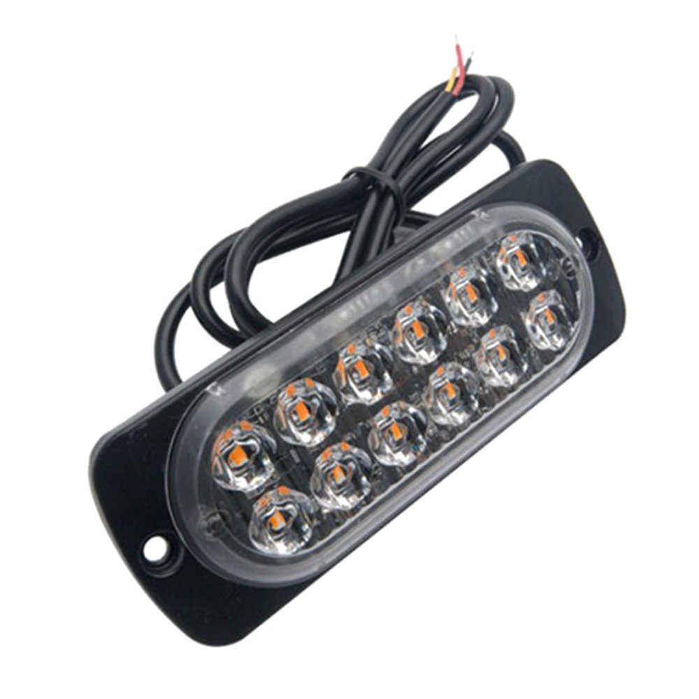 Ultra-thin Car Lights Assembly 36W LED Police Lights 12 LED Car Truck Emergency Side Strobe Warning Light Car-styling