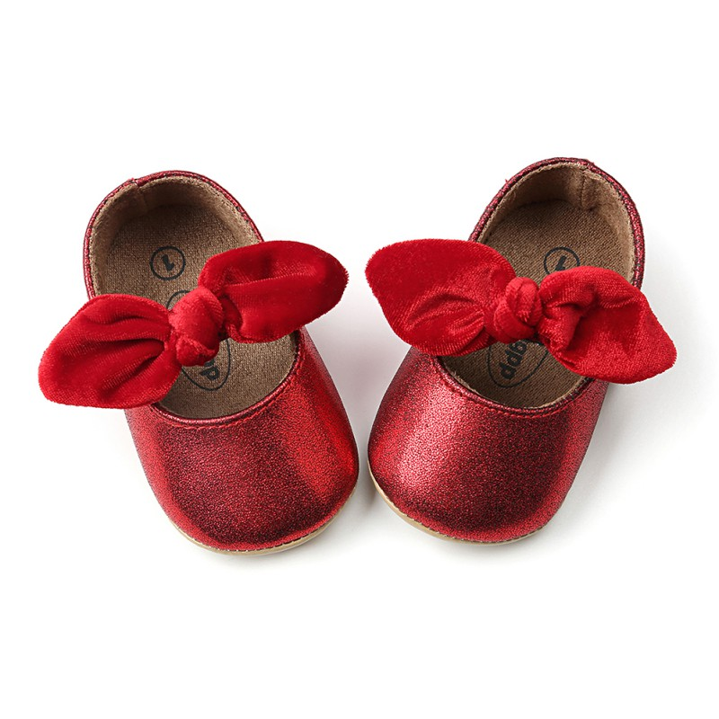 Spring Summer Baby Girl Bow-knot Soft Sole Shoes Anti-slip Shoes Princess First Walkers 0-18M