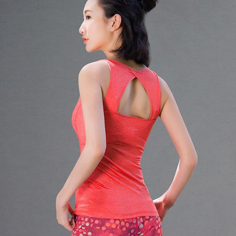 U16047 Yoga Top Shirt Frauen Laufen Sport T Hohe Elastische Fitness Top Sportbekleidung Fitness T-Shirt Laufweste Tops