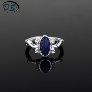 1 pc The Vampire Diaries Rings Elena Gilbert Daylight Rings Vintage Crystal Ring With Blue Lapis Fashion Movies Jewelry Cosplay(China)