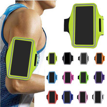Universal Waterproof 5.5inch Sport Armband Belt Running GYM Bag Armband Pouch Case For iPhone 7Plus 8Plus XPlus with Key Holder(China)