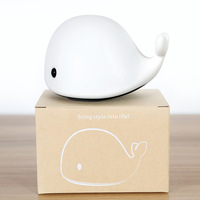 The New Led Silicone Night Light Dolphin Whale Patted Lights Colorful Atmosphere Light Sleep Foreign Trade