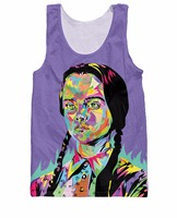 Death And Rock Sick Wednesday Addams Technodrome1 Tank Top Hip Hop Tops Vest Streetwear Summer Style