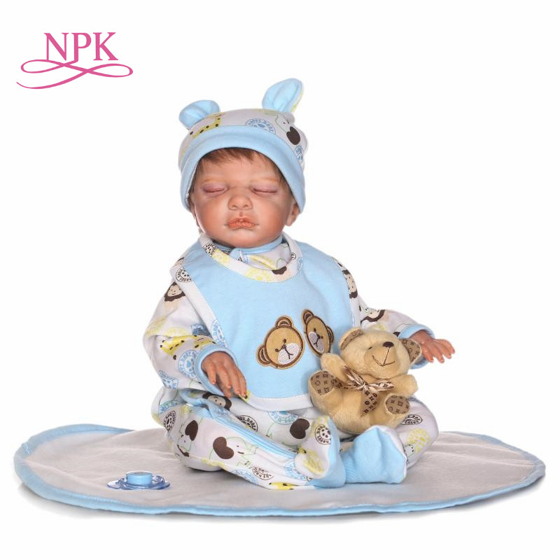 NPK reborn doll with soft real gentle touch Simulation handmade sleeping baby doll creative gift for kids on Birthday