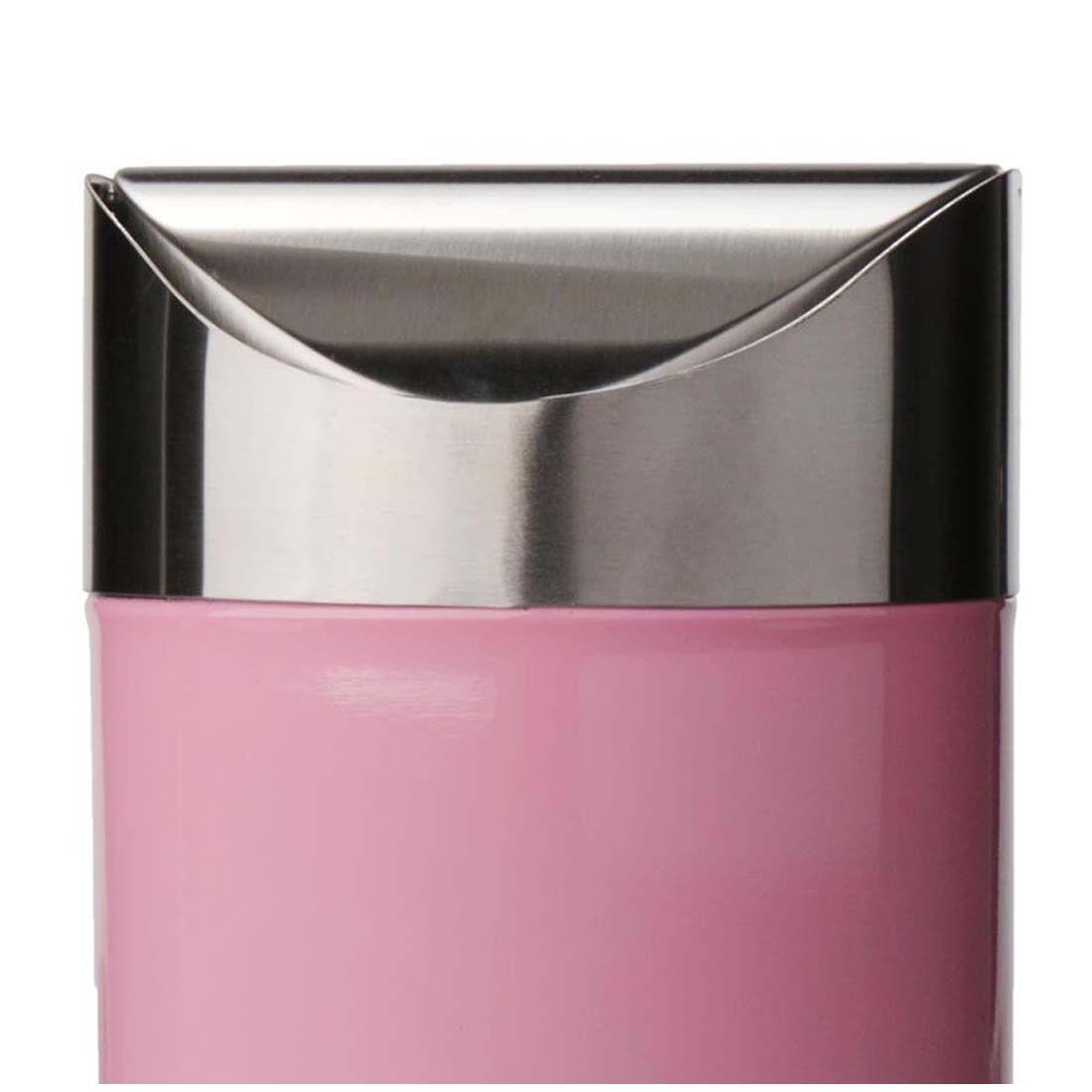 Pink Bins Us 7 53 16 Off Stainless Steel 1 5l Mini Worktop Kitchen Waste Dust Bin Rubbish With Swing Lid Pink In Waste Bins From Home Garden On